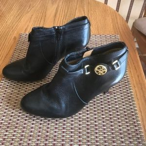 Coach Salene Semi Matte Black Boot/Bootie 6.5